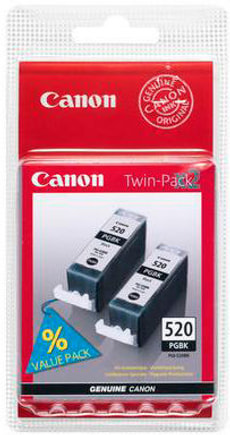 PGI-520 Twin Pack Cartouche black