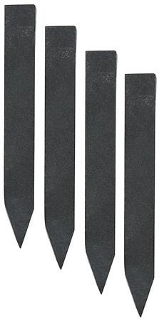 Affichette piquer ardoise 16x2cm, set 4