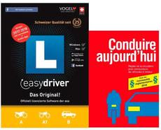 PC/Mac - easydriver 2017/18 (D/F/I/E) avec livre de théorie français