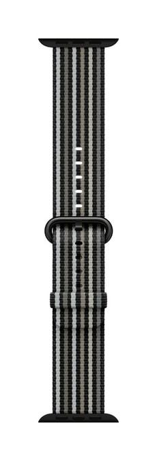 38mm Black Stripe Woven Nylon