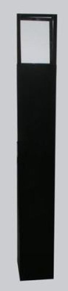 LATERNE QUADRO  MIT KERZE 120X16X16CM