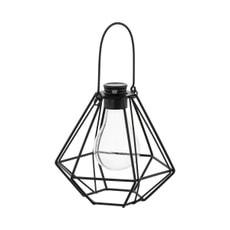 Lampe solaire LED suspension vintage noir