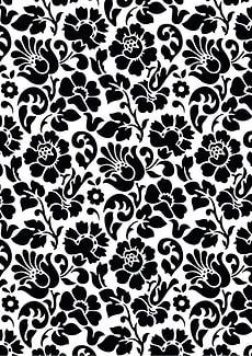 Feuilles autocollantes de décoration Barock, noir et blanc
