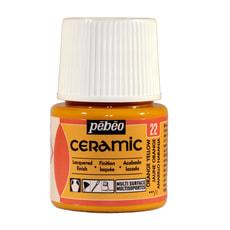 PÉBÉO Ceramic Keramikmalfarbe 22 Orange Yellow 45ml