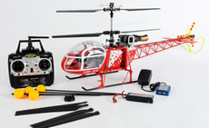 Air Zermatt Lama RC Helikopter