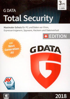 PC - GData Total Security 2018 Swiss Edition (3 PC) (D/F/I)