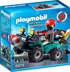 PLAYMOBIL City Action Quad de gangsters avec treuil 6879