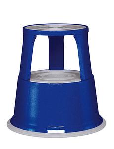 Tabouret à roulettes bleu