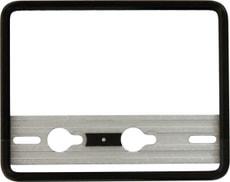 Porte-plaque d'immatriculation pour moto aluminium noir 18x14cm