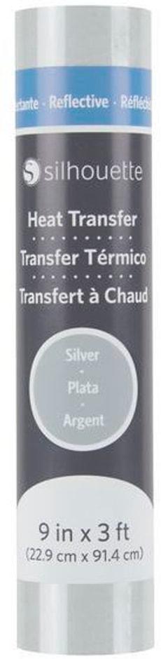 Aufbügelfolie 22.9 cm x 91.4 cm Silber, reflektierend