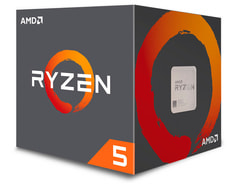 Ryzen 5 1600X 6x 3.6 GHz AM4 boxed, senza ventilatore processore