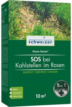 SOS bei Kahlstellen im Rasen - Green Doctor, 10 m²