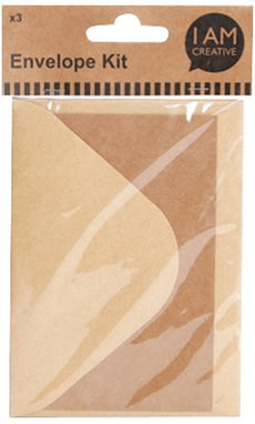 Lettre et envelo brun