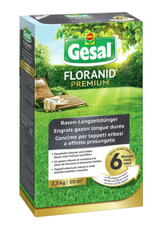 FLORANID Premium Rasen-Langzeitdünger, 2,5 kg