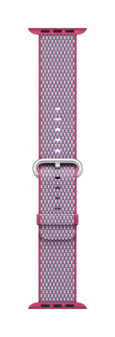 38mm Berry Check Woven Nylon