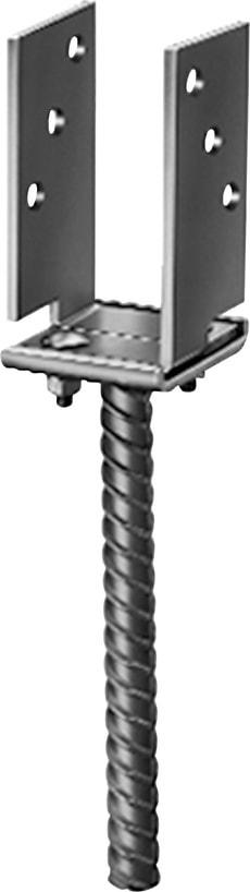 Ancrage de poteau en U 7–13 cm