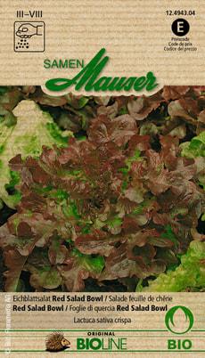 Salade Feuille de Chêne Red Salad Bowl