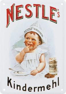 Werbe-Blechschild Nestlé Kindermehl