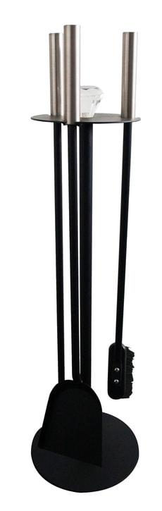 Kamingarnitur 3-teilig schwarz