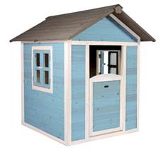 Kinderspielhaus Lodge, blau/weiss