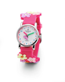 AB KIDS BLUMEN 3D pink Armbanduhr