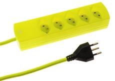 Multipresa 5 x T13 giallo fluorescente
