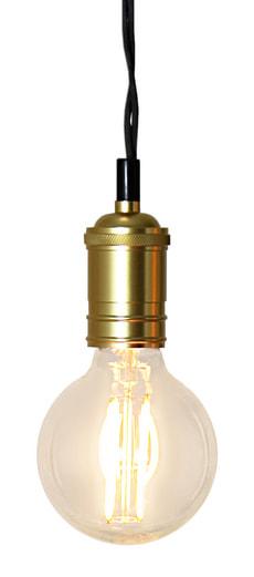 Câble de lampe avec douille en dorée