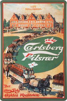Signe de tôle publicitaire Carlsberg Transport