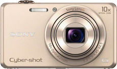 DSC-WX220 Cybershot Appareil photo compact Or