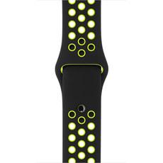 42 mm Nike Sportarmband, Schwarz/Volt – S/M und M/L