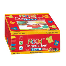 Mucki Fingerfarben, 4er-Set, Textil