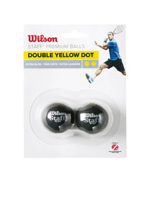 Wilson Squash Ball Doppel Gelb