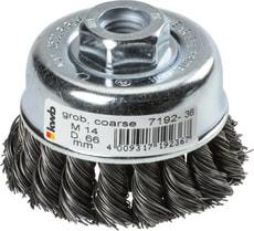 AGGRESSO-FLEX® Topfbürste, HSS Stahldraht, gezopft, Ø 66 mm