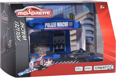 Majorette Creatix Polizeistation +1Auto