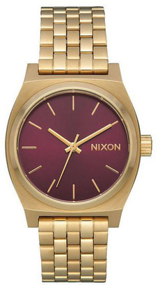 Medium Time Teller Gold Bordeaux 31 mm