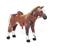 Pferd Cowboy Style stehend mit Sound 80 cm