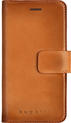 Booklet case for iPhone X cognac