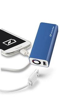 USB Akkuladegerät 3000mAh blau