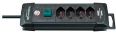 Steckdosenleiste Premium-Line 4fach schwarz