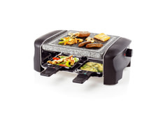 Raclette Gourmet Grill und Stein, 4er