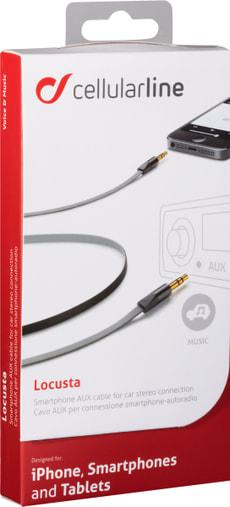 Câble stéréo 3.5 mm gris