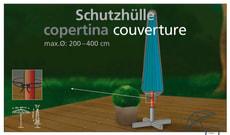 Fodera di protezione per ombrelloni 200 - 400 cm