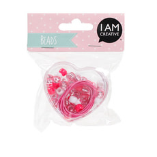 KIDS BEADS,COEUR ROSE