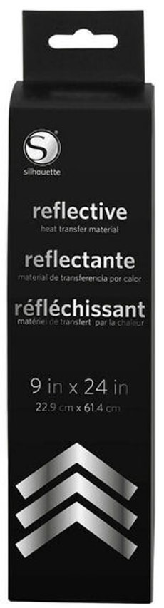 Aufbügelfolie 23 cm x 61 cm reflektierend