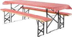 Garniture pour ensemble table et bancs