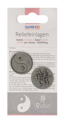 Reliefeinlagen Ying & Yang