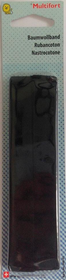 Ruban cotton noir 16mm x 2.7m