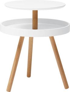 ELLIS Beistelltisch Ø46cm H55.5cm ws/nat
