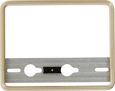Porte-plaque d'immatriculation pour moto aluminium or 18x14cm