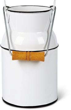 Milchkanne mit Holzgriff